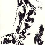 """Drawing at Rodin expo 04"" by albergue-man"