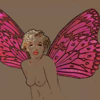 marilyn-monroe With Wings Art Prints & Posters by TRAY MEAD