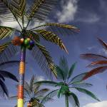 """Plastic Palm Trees against Blue Sky"" by staceylynnpayne"