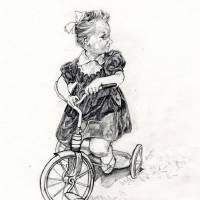 Girl On Tricycle Art Prints & Posters by Dev Ramsaran