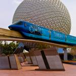 """Tronorail passing Spaceship Earth"" by ahansendesign"