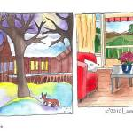 """Norway Real-estate Illustrations (c)2010LaurenCurt"" by LaurenCurtis"
