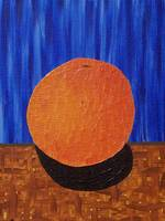 orange orange blue background