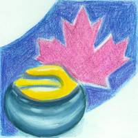 Maple Leaf and Curling Stone