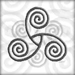 """Celtic Triple Spiral"" by foxvox"