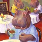 """Hippo at the Cafe by Matthew Finger"" by MattO68"