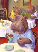 Hippo at the Cafe by Matthew Finger