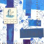 """blue baby abstract collage"" by paperwerks"