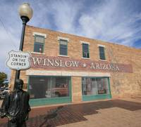 Winslow Arizona standing on the corner