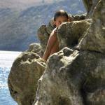 """girl on the rocks"" by VivianGerogianni"