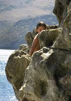 girl on the rocks