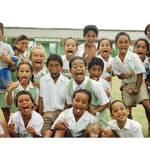 """Raratonga Children Brushing Their Teeth"" by paulblackthornephotos"