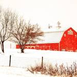 """_MG_7281 - Barn in Winter Storm - Indiana - 2010"" by whayes39"