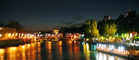The Seine at Night - Time-Lapse