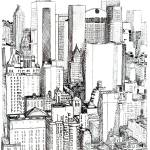 """Midtown Manhattan by RD Riccoboni"" by BeaconArtWorksCorporation"