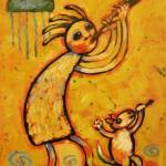 """Kokopelli and Musical Dog"" by carolsuzanne"