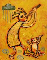 Kokopelli and Musical Dog