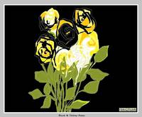 Black & Yellow Roses