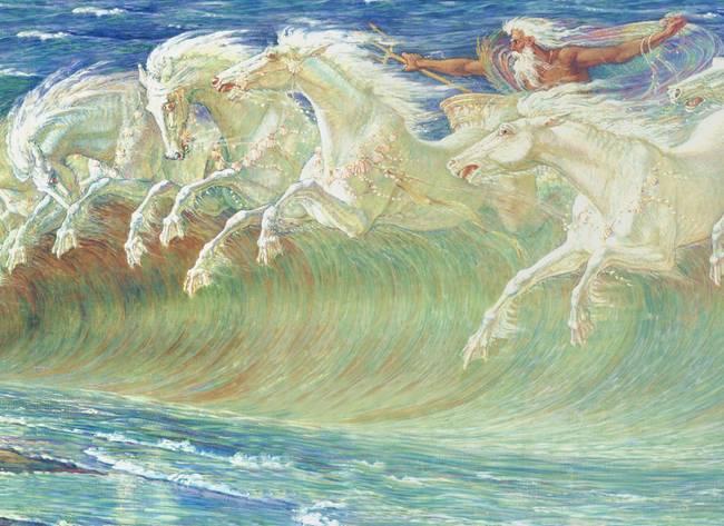 Walter Crane Neptune'-s Horses Framed Painting for sale ...