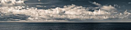 Clouds over the Ligurian Sea (Italy, Liguria, Golf