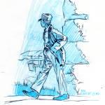 """Just walking study"" by kennethcalvert"