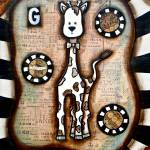 """""""VINTAGE GIRAFFE"""" by KELLYLISHART"""