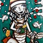 """CHRISTMAS MERMAID"" by KELLYLISHART"