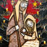 """NATIVITY SCENE RED"" by KELLYLISHART"