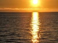 Sunset, Beach, Orange, Sun, Water, B.C.