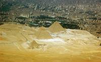 pyramids of giza from above