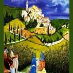 """TUSCAN VILLAGE  Art Print"" by artistcain"