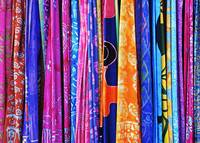 a rack of sarongs