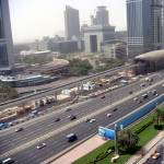 """Sheih Zayed Road And The Underconstruction Dubai M"" by bhattee"