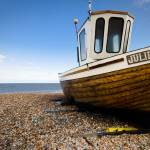 """Fishing boat near Deal, Kent UK"" by haraldkrefting"