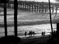 Surfers at San Clemente