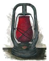 Hurricane Lantern : Antique oil lantern : 01