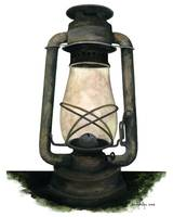 Hurricane Lantern : Antique oil lantern : 03