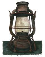 Hurricane Lantern : Antique oil lantern  : 08