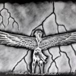 """""""Myth Illustration 2 (Negative)"""" by silverwind"""