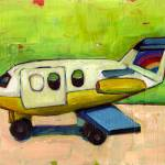 """fisher price toy plane on green"" by meredithsteele"