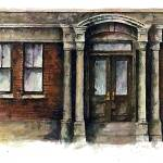 """""""City Street entry door : 23"""" by OAKTREE"""