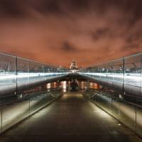 Millenium Bridge to St Pauls Art Prints & Posters by Harald Krefting