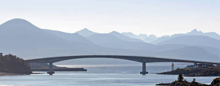 Skye Bridge and hazy Cuillins