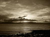 monochrome sunset no. 12