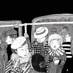 """""""People in the tram"""" by lukaluka"""