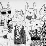 """""""Cats in clothes"""" by lukaluka"""