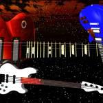 """Red White & Blue Guitars"" by ShayneHanson"
