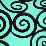 """Dublin Fence Detail in Turquoise"" by aroundtheisland"