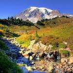 """Mt Rainier in Autumn"" by PatriciaDanielPhotography"