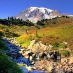 """Mt Rainier in Autumn"" by PatriciaDanielPhotography"